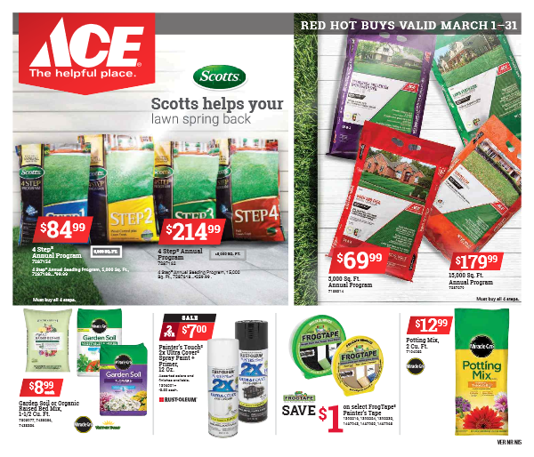 Image of ACE Red Hot Buys flyer Mar 1 thru 31