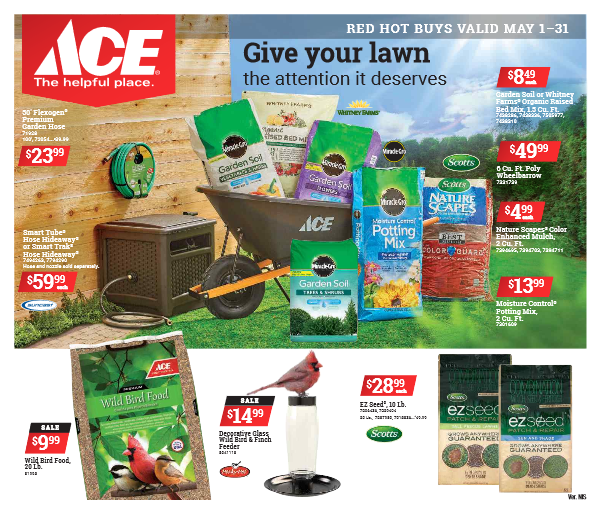 Link to ACE Ad for May 1 thru 31