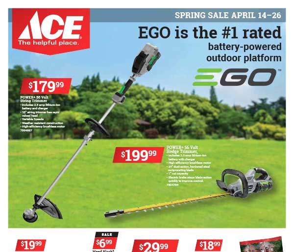 ACE Spring Ad April 14 thru 26