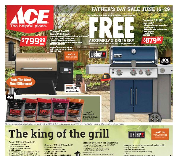 Link to ACE Father's Day Sale June 16 thru 29