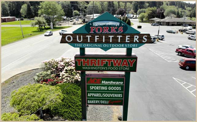 Forks Outfitters sign
