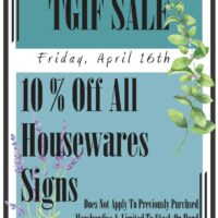 Link to TGIF Sale flyer