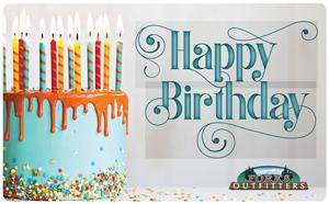 Gift Card Happy Birthday