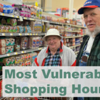 Image of people for most vulnerable shopping hours